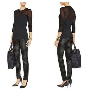 CURRENT/ELLIOTT Black Houndstooth Skinny Jeans NWT